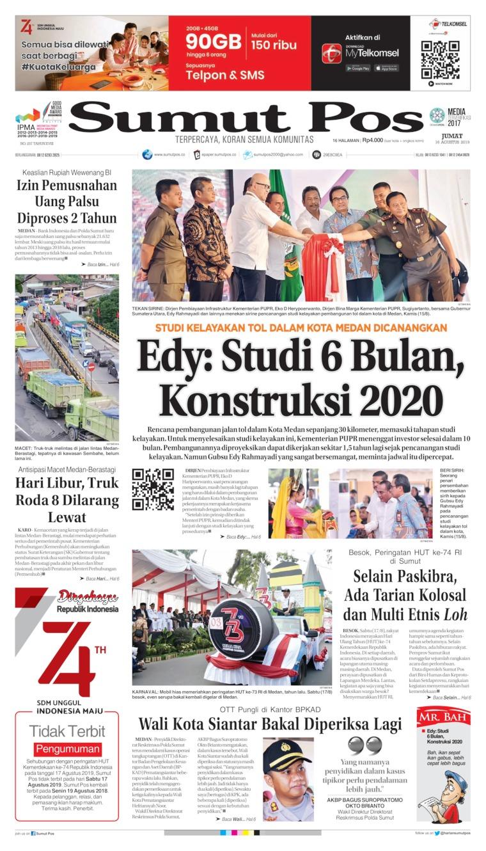 Koran Digital SUMUT POS 16 Agustus 2019