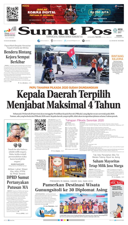 SUMUT POS Digital Newspaper 22 August 2019