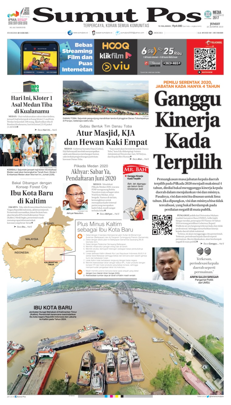 SUMUT POS Digital Newspaper 23 August 2019