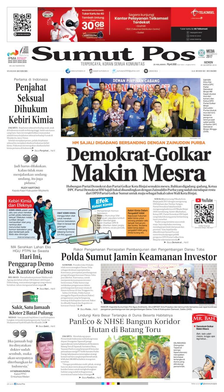 Koran Digital SUMUT POS 26 Agustus 2019