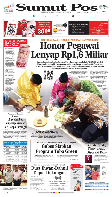 Koran Digital SUMUT POS 11 September 2019
