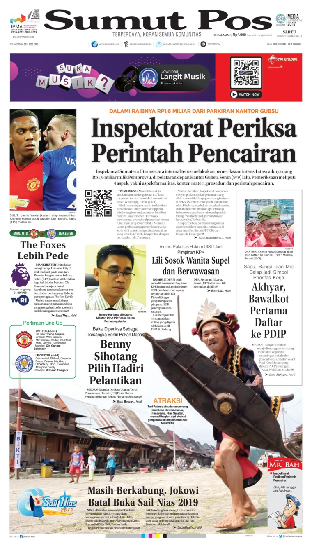 Koran Digital SUMUT POS 14 September 2019