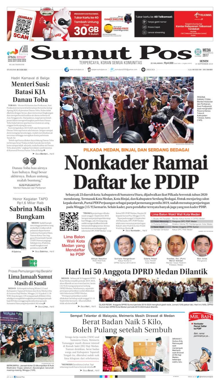 Koran Digital SUMUT POS 16 September 2019