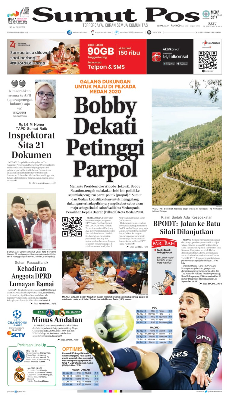 SUMUT POS Digital Newspaper 18 September 2019