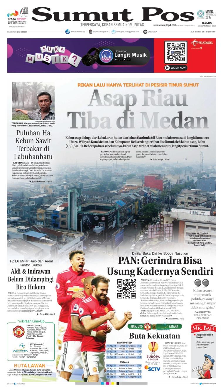 SUMUT POS Digital Newspaper 19 September 2019