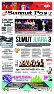 Cover SUMUT POS 13 Oktober 2018