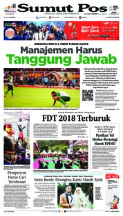 Cover SUMUT POS 10 Desember 2018