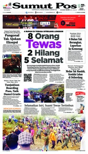 Cover SUMUT POS 14 Desember 2018