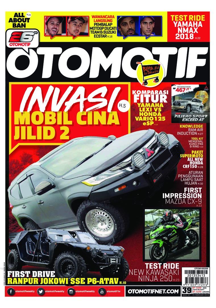 Majalah Digital OTOMOTIF ED 39 Februari 2018