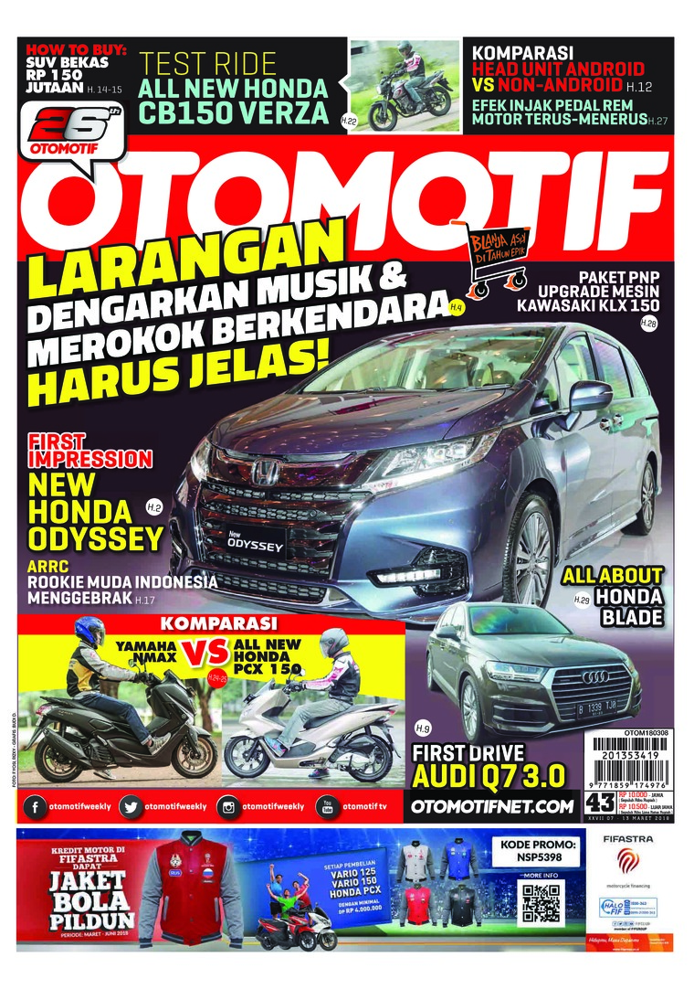 Majalah Digital OTOMOTIF ED 43 Maret 2018