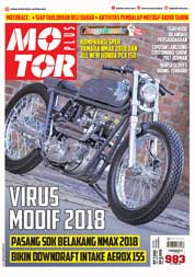 Cover Majalah MOTOR PLUS ED 983 Januari 2018