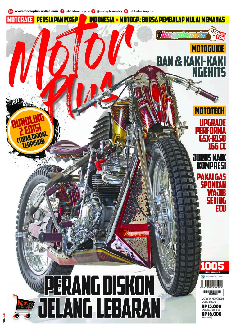 Majalah Digital MOTOR PLUS ED 1005 Mei 2018