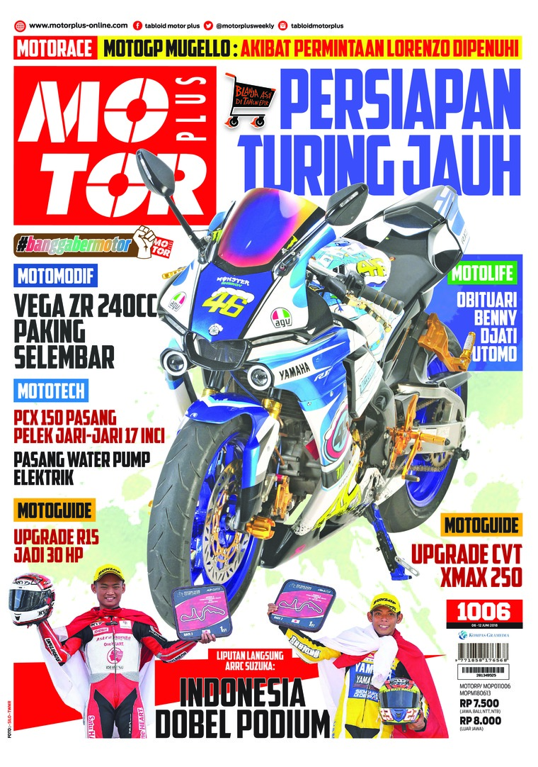 Majalah Digital MOTOR PLUS ED 1006 Juni 2018