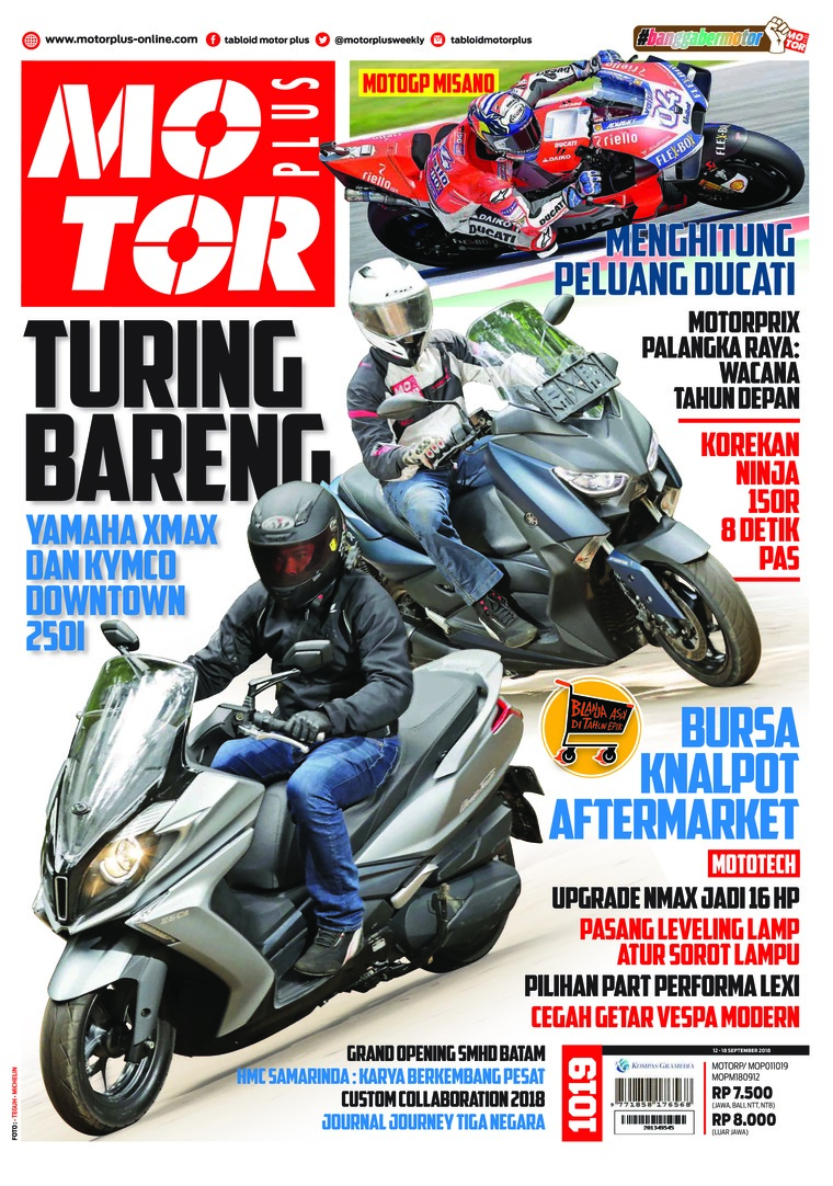 Majalah Digital MOTOR PLUS ED 1019 September 2018