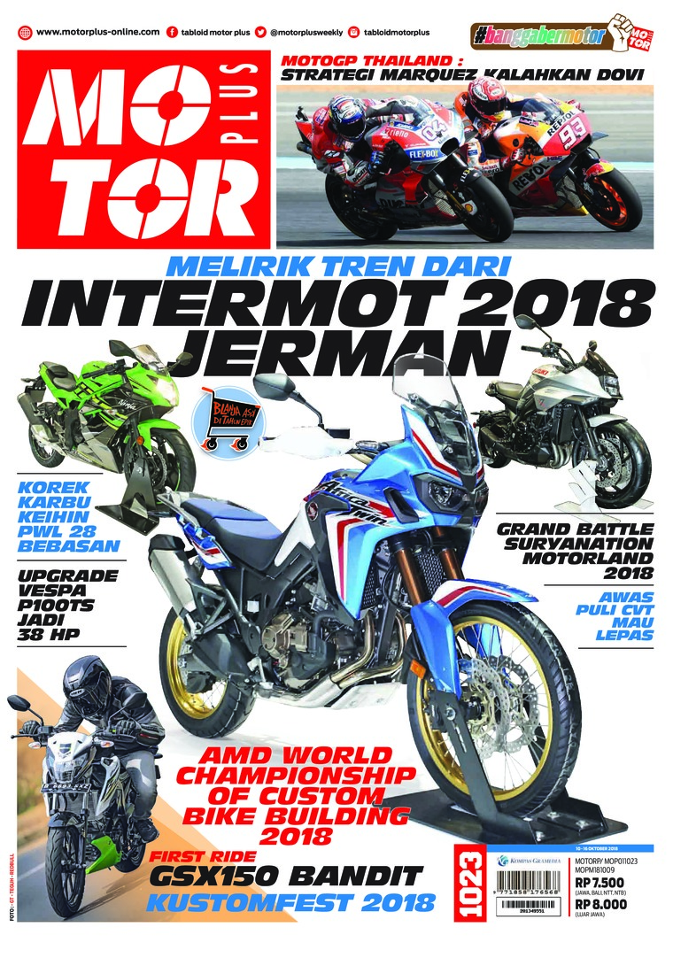 Majalah Digital MOTOR PLUS ED 1023 Oktober 2018