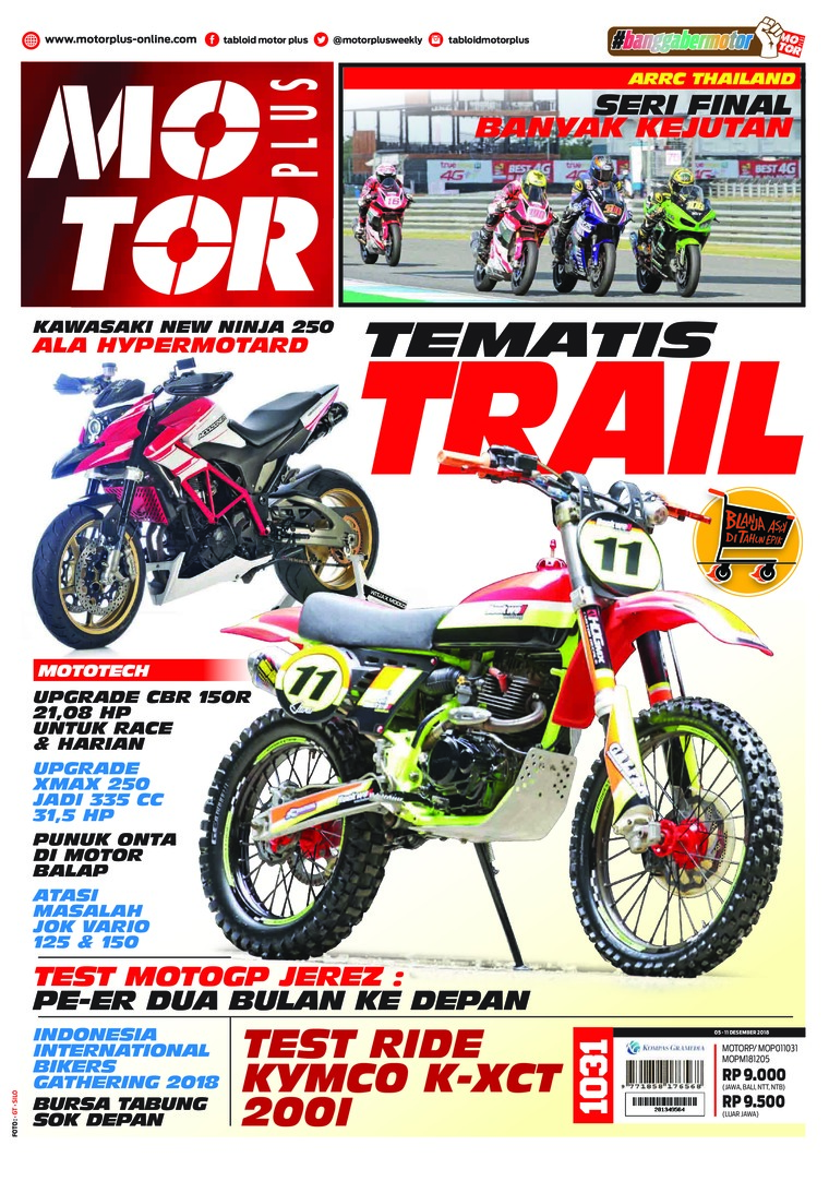 Majalah Digital MOTOR PLUS ED 1031 Desember 2018