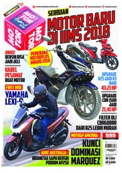 Cover Majalah MOTOR PLUS ED 999 April 2018