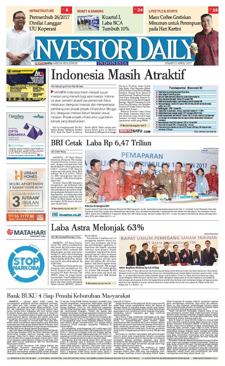 Koran Digital INVESTOR DAILY 21 April 2017