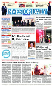 Cover INVESTOR DAILY 31 Mei 2018