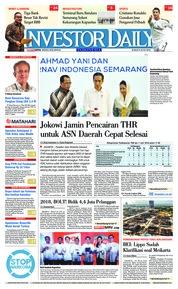 Cover INVESTOR DAILY 08 Juni 2018