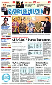 Cover INVESTOR DAILY 16 Agustus 2018