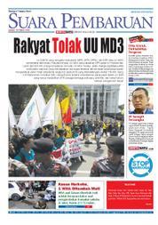 Cover SUARA PEMBARUAN 16 Maret 2018