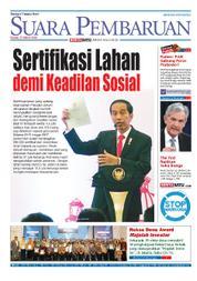 Cover SUARA PEMBARUAN 22 Maret 2018