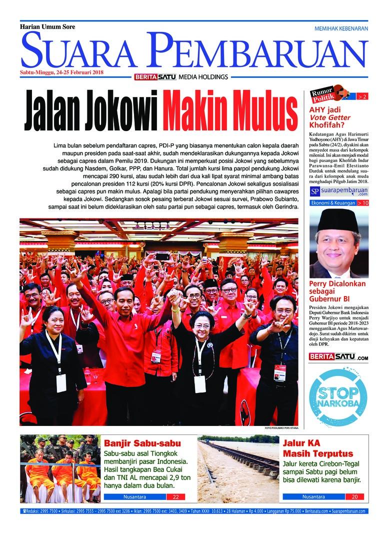 Koran Digital SUARA PEMBARUAN 24 Februari 2018