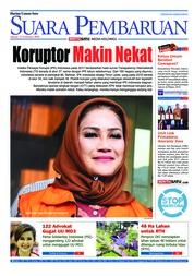 Cover SUARA PEMBARUAN 23 Februari 2018
