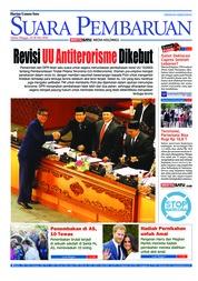 Cover SUARA PEMBARUAN 19 Mei 2018