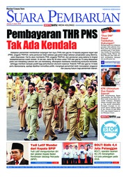 Cover SUARA PEMBARUAN 08 Juni 2018