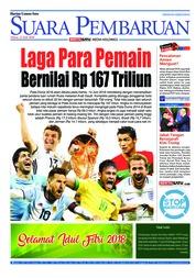Cover SUARA PEMBARUAN 12 Juni 2018