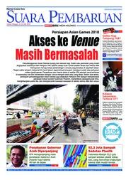 Cover SUARA PEMBARUAN 21 Juli 2018