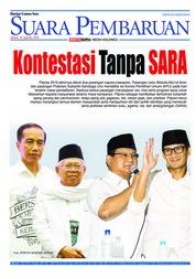 Cover SUARA PEMBARUAN 10 Agustus 2018