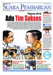Cover SUARA PEMBARUAN 13 Agustus 2018
