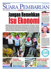 Cover SUARA PEMBARUAN 14 Agustus 2018
