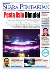 Cover SUARA PEMBARUAN 18 Agustus 2018