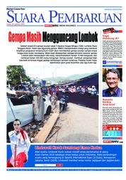 Cover SUARA PEMBARUAN 20 Agustus 2018