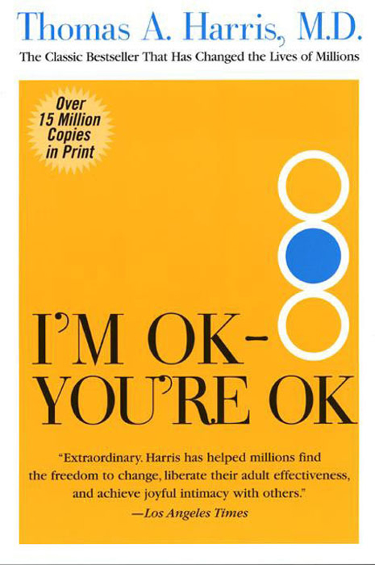 im ok your ok -i'm ok, you're ok is a highly professional emotional well-being service that more schools should know about joe flynn, head teacher, st newlyn east primary we deliver specialist professional training and workshops for counsellors working with children and teenagers.