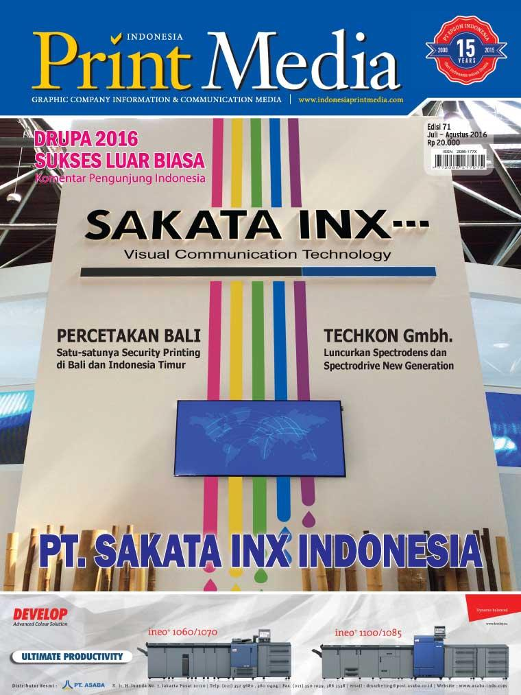 Majalah Digital Print Media Indonesia ED 71 Juli 2016