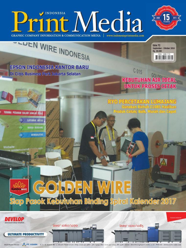 Print Media Indonesia Digital Magazine ED 72 September 2016