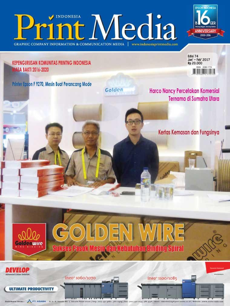 Print Media Indonesia Digital Magazine ED 74 December 2016
