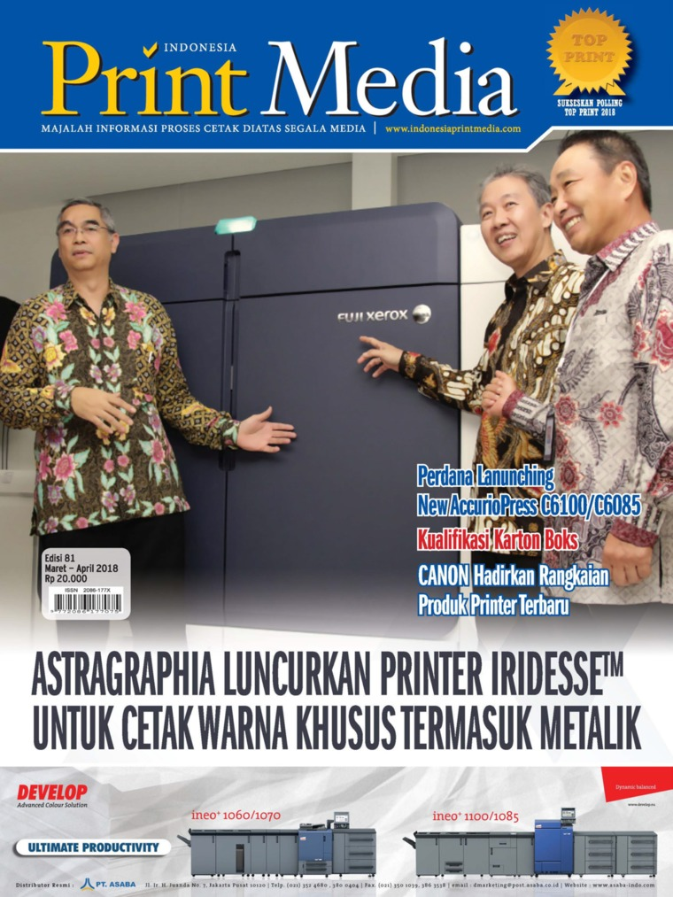 Majalah Digital Print Media Indonesia ED 81 Maret 2018