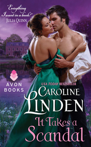 It Takes a Scandal by Caroline Linden Cover