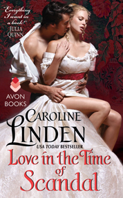 Love in the Time of Scandal by Caroline Linden Cover