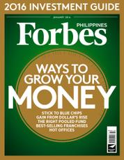 Forbes Philippines Magazine Cover January 2016