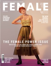 Cover Majalah female Singapore Maret 2018