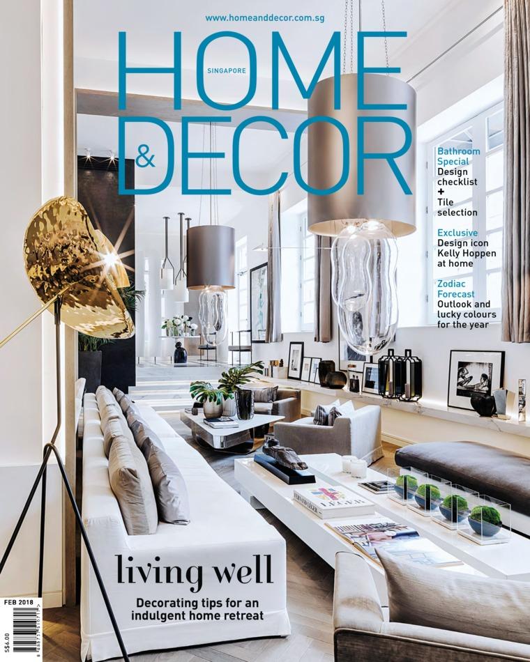 Jual Majalah HOME & DECOR Singapore Februari 2018