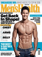 Cover Majalah Men's Health Singapore Februari 2018