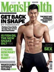 Cover Majalah Men's Health Singapore Januari 2018